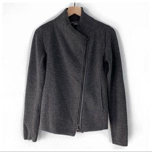 Vince Asymmetrical Zipper Wool Cardigan Size XS